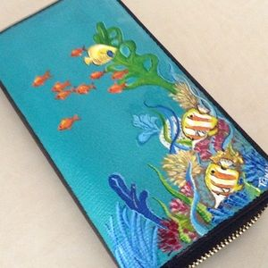 Handbags - Hand Painted sea themed wallet